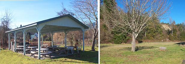 Public picnic areas at Brinnon Visitor's Center
