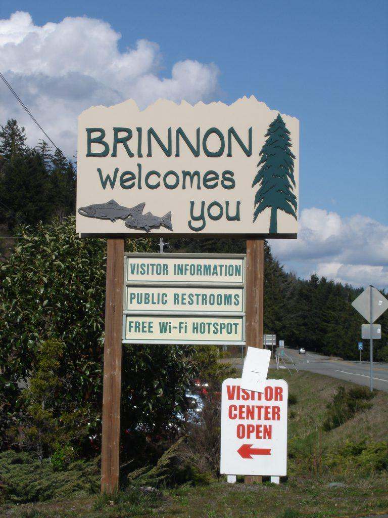 'Brinnon Welcomes You' sign